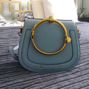 Handbags - Light blue cross body or sholuder bag